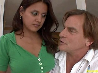 Bad stepfather fucks tight pussy his beauty brunette daughter | beautybrunettedaughterstepdadtight