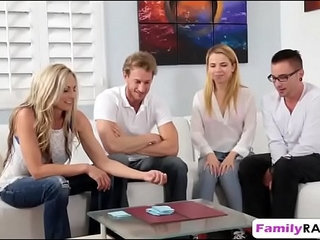 Weird family played poker stripping ends up fucking foursome | 4somefamilystripteaseweird