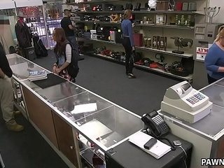 College Student Pawns Her Books XXX Pawn   collegeshopstudents
