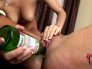 Eufrat and Jana use beer bottles to pleasure each other | pleasure