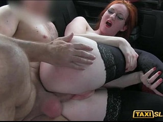 Redhead chick Zara nailed in the backseat of a taxi | bdsmchickredheadtaxi