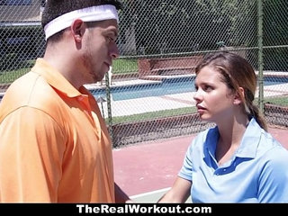 Therealworkout keisha grey pounded after playing tennis | pounding