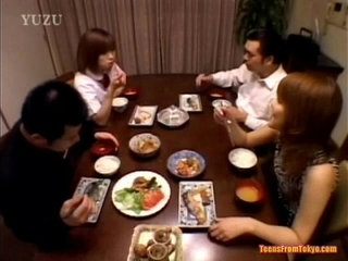 A Asian teenager is sitting at the dining table Wit from   asiantableteenager