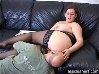 Big titted mistress lets man lick her pussy before her ass hole | assholelickingmistresspussytitjob