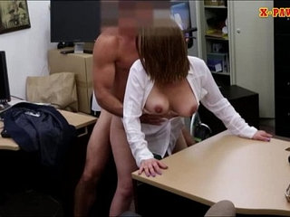 Foxy big boobs business lady pussy pounded in the pawnshop   big boobsladypoundingpussyshop