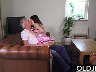 Old and Young Porn Babysitter pussy fucked by old man and swallows cum   babysittercumold and youngold manpussyswallow