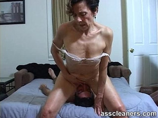 Horny MILF facesits a slave for ass licking and cleaning   ass lickinghornyslave