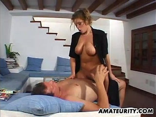 Busty amateur girlfriend home action with cum on tits | actionbustycum on titsgirlfriendhomemade