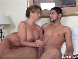 Naughty Milf Jerks Off A Naked Young Dude | dudenakednaughtyyoung