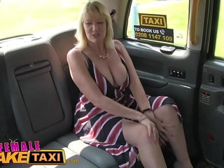 Female Fake Taxi Blonde milf cums on sexy redheads tongue | blondecumfemalesexytaxitongue