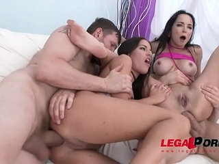 Hot sluts francys belle and eveline dellai vs fat cocks for double anal   analcockdoublefatsluts