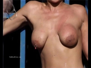 Outdoor whipping of blonde wife in hardcore public bdsm and milf humiliation | bdsmblondehardcorehumiliationmilfoutdoor
